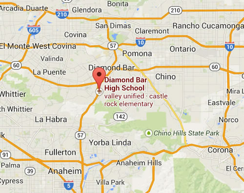map to Centennial high school