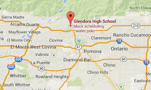 map to Glendora high school