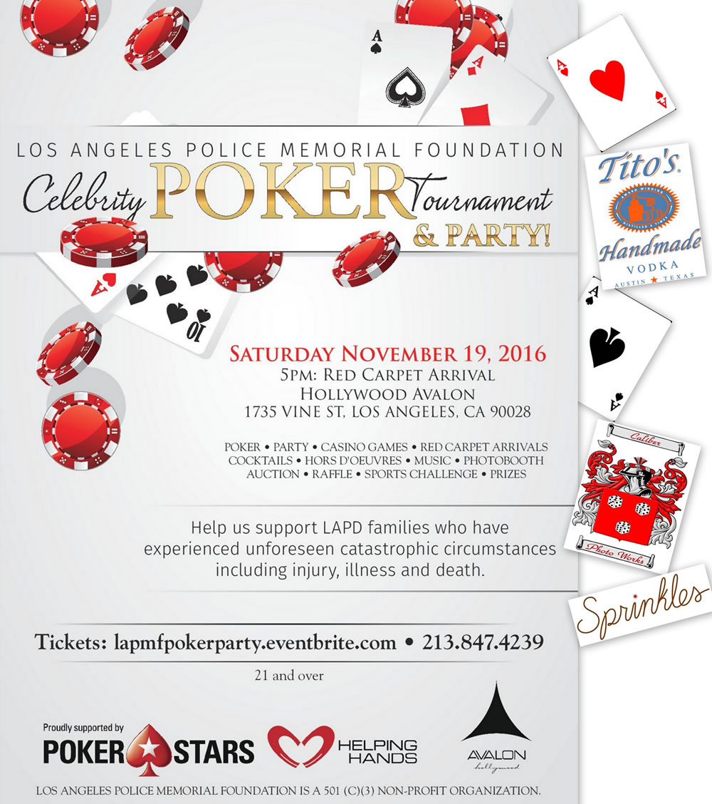 2016 Poker Tournament flyer