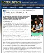 Poker Listings, January 10, 2010
