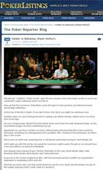 Poker Listings, January 9, 2010